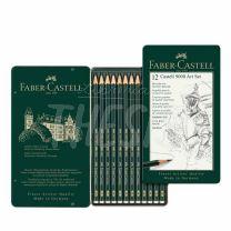 Lapices Faber Castell 9000 Graduacion Set x 12 Lata