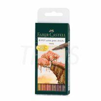 Marcador Faber Castell Pitt x  6 Terra