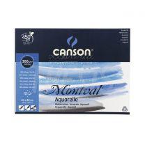 Block Canson Montval Aquarelle 24 x 32 cm 300 gr