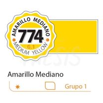 Tempera profesional Alba 18 ml amarillo mediano 774