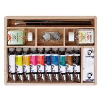 Oleo Van Gogh Caja Basica con 10 oleos + accesorios