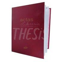 Libro de Actas 2 manos 200 hojas 2224 Tapa dura bordeaux Rab
