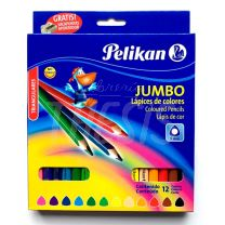Lapices de colores Pelikan Jumbo x 12 triangulares