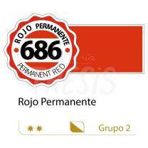 Oleo Alba 125 ml rojo permanente 686 G2