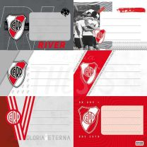 Etiqueta escolar River Plate 1301125 Mooving