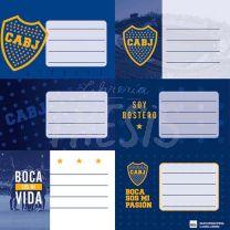 Etiqueta escolar Boca Jrs. 1301111 Mooving