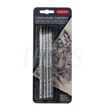 Lapices de grafito acuarelable Derwent Graphitone x 4