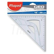 Escuadra escolar Maped Geometric 45� 26 cm 242426