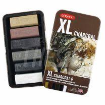 Barras de carbon Derwent XL Charcoal x 6