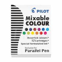Cartuchos Pilot x 12 Color IC-P3-AST
