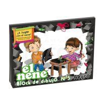 Block escolar de dibujo El Nene Nº 5 Negro