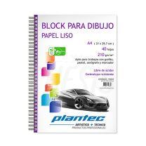 Block Plantec liso 210g A4 40h anillo lateral