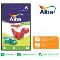 Plastilina Alba x   6 colores