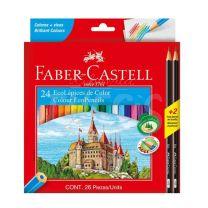 Lapices Faber Castell Eco Lapiz x  24 + 2 Grafitos
