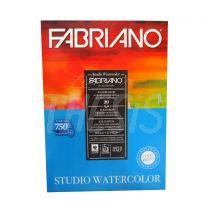 Block para acuarela 23 x 32 cm 200 gr x 20 hojas Fabriano Watercolor Studio