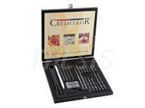 Set de dibujo Black Box Cretacolor en caja de madera
