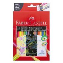 Lapices Faber Castell Eco Lapiz Colores Especiales x 18