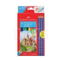 Lapices Faber Castell Eco Lapiz x  12 + 3 Grafitos