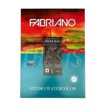 Block para acuarela 35 x 50 cm 200 gr x 20 hojas Fabriano Watercolor Studio