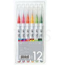 Marcador Acuarelables punta pincel Zig Clean Color x 12