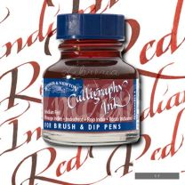 Tinta para caligrafia 30 cc rojo indio W&N