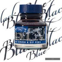 Tinta para caligrafia 30 cc negro azulado W&N