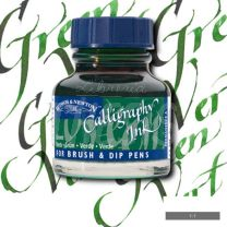Tinta para caligrafia 30 cc verde hoja W&N