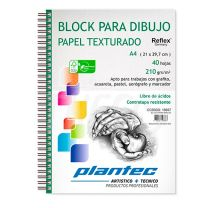 Block Plantec A5 texturado 210g x40 hojas