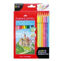Lapices Faber Castell Eco Lapiz x  12 + 6 Neon  112671