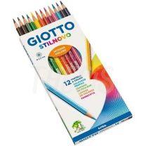Pinturitas Giotto Stilnovo 3.3 mm  x  12 + Sacapuntas + Grafito  256500Es