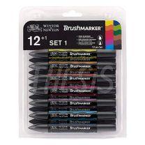 Marcadores Winsor & newton Brushmarker tonos vibrantes x12