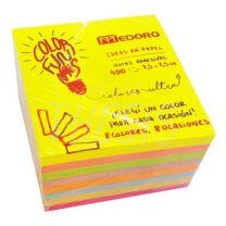 Papel  Notas 7.5 x 7.5  x 400 hjs cubo magico 7356/7456 Medoro