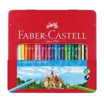 Lapices Faber Castell lata x 24 con ventana 115824