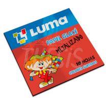 Papel glace metalizado 10 unidades de colores surtidos Luma