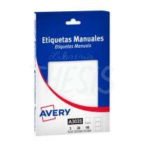 Etiquetas autoadhesivas multiuso blancas Avery  75 x  50 mm 90 etiq. (A3035)