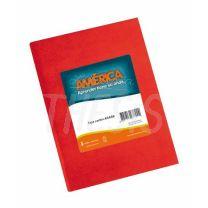 Cuaderno escolar America Tapa Carton 42 hojas Rojo Rayado