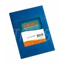 Cuaderno escolar America Tapa Carton 42 hojas Azul Rayado