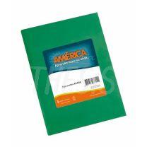Cuaderno escolar America Tapa Carton 42 hojas Verde Rayado