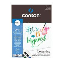 Block Canson Mixmedia Lettering 24 x 32 cm 200 gr 20 hojas (400109829)