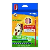 Pinturitas Lyra Groove Slim x  36 + Sacapuntas  (2821360)