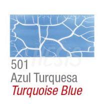 Craquelador color set 2 frascos 37 cc  azul turquesa Acrilex