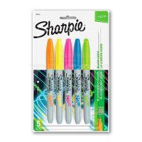 Marcadores Sharpie Neon finos x 5
