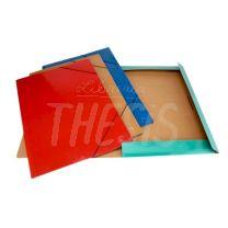 Carpeta presphan 3 solapas con elastico 35 x 50 cm rojo C6641 Util Of