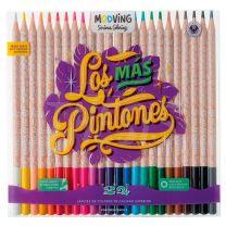Lapices Mooving Los Mas Pintones x 24